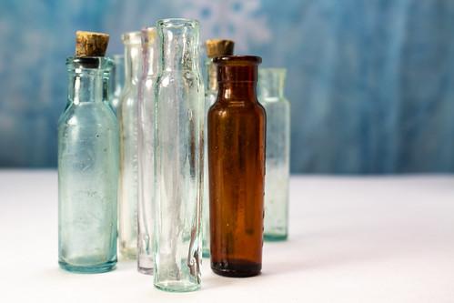 Group of Vintage Antique Glass Medicine Bottles, From FlickrPhotos