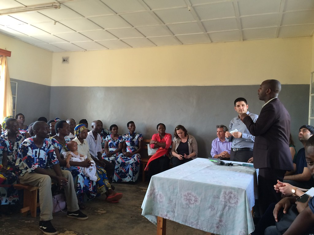 Presenting the SubQ Assist to a group of community health workers in a rural clinic in Rwanda