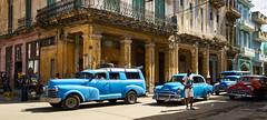 Havana, Cuba (szeke) Tags: cuba habana street cars vintage person standing blue