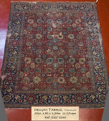 922 Tabriz Damaged, 380x 294, 11.17 (Persian Rugs UK) Tags: 1117 380x294 60080 922 allover carpet loc persian shoot3