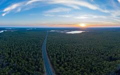 Route 563 Sunset (reclaimednj) Tags: chatsworth newjersey unitedstates us nj 2018 mavic2pro aerialphoto panorama sunset pinelands pinebarrens