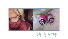 lady cliptextile earrings tipe2 (maslikarija) Tags: earrings textileart textileartist textilejewelry jewelrydesign design artjewelry wearableart unique colorful handamade stiched slowfashion mindjuse creative
