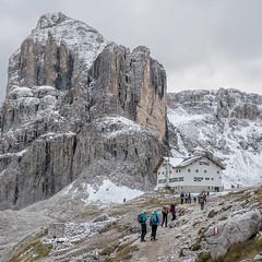 Rifugio F. Cavazza al Pisciadù (Bergfex_Tirol) Tags: bergfex tirol wanderung dolomites dolomiti hike gebirge alps alpen tyrol sella südtirol italien alpinism italy alpes dolomiten mountain pisciadù hut hütte rifugio