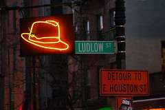 Neon Hat (agent j loves nyc) Tags: neonsign signs streetsigns streetsign nyc newyorkcity