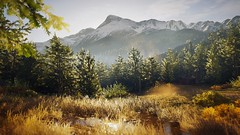 Snow Capped Mountains (nicksoptima) Tags: mountains trees forest ps4 screenshot assassins creed odyssey ubisoft