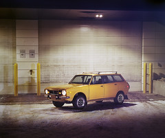 1977 Subaru Wagon (musubk) Tags: car cars automotive photography subaru wagon leone large format 4x5 kodak portra portra400 film analog