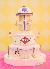 Carousel Themed Cake (sweetsuccess888) Tags: sweetsuccess carouselcake carousel carouselparty fondantcake birthdaycake philippines