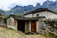 Des Res with a View (GP - back in a few days) Tags: zagoroxoria zagori papingo astrakas pindos greece stone house gate entrance wooden door