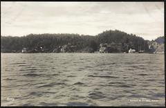 Postkort fra Agder (Avtrykket) Tags: bolighus brygge hus postkort sjø arendal austagder norway nor