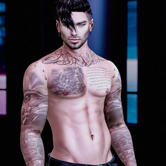 Connor (Connor ※ Valentine) Tags: male shirtless tattoos hair 3d edit eyes edits photography photoshop photo photograph pose portrait pixels