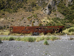 Pencarrow Shipwreck (Wozza_NZ) Tags: wellington lowerhutt pencarrow wreck boat rust rusty sequoia specialized gravel gravelgrind coast adventure microadventure nz newzealand