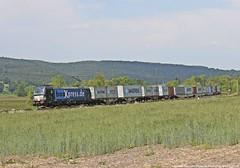 MRCE/BoxXpress 193 853 am 23.05.2018 mit einem Containerzug in Haunetal-Neukirchen (Eisenbahner101) Tags:
