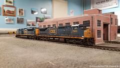 CSXT 7903 GE C40-8W (HO Scale) (Trucks, Buses, & Trains by granitefan713) Tags: train modeltrain ho hoscale layout trianlayout modeling modelrailroad hmrr hudsonmodelrailroadclub csxt csx ge generalelectric gec408w dash8