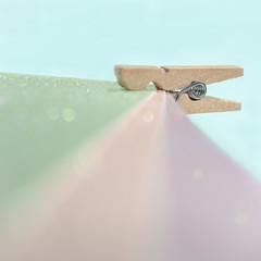 hold me tight (Emma Varley) Tags: peg craft paper sparkle bokeh pastel macromondays intendedcontact