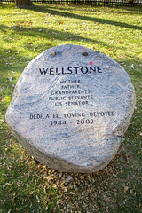 Paul and Sheila Wellstone tombstone with a red I Voted sticker on the monument in the Lakewood Cemetery in Minneapolis, Minnesota (thstrand) Tags: tombstone history historicperson politicians politician 20thcentury 21stcentury 2000s 2002 northamerica granite rocks ivotedsticker rock boulders boulder americans american america unitedstates usa us ussenator burials burialsite graveyard graves gravesite headstones headstone liberals liberal progressives progressive dfl democrats democraticleader democrat politicalleaders politicalleader airplanecrashvictims tragicdeaths tragicdeath mn minnesota minneapolis lakewoodcemetery sheilawellstone paulwellstone