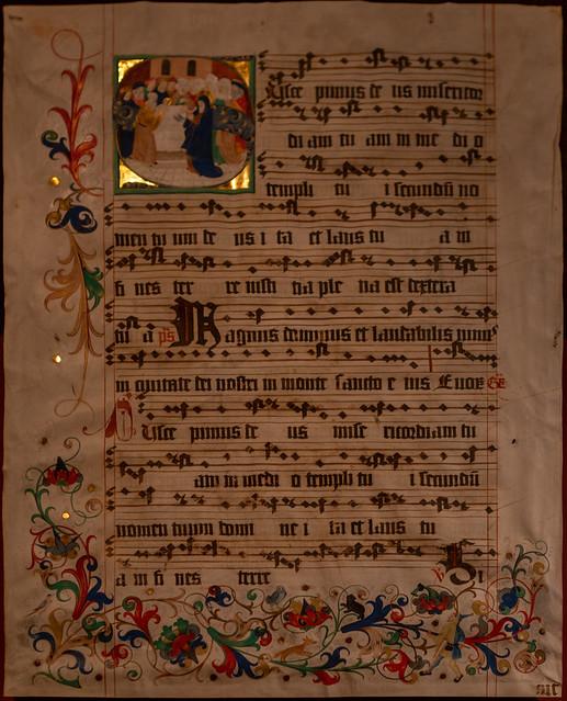 Blatt aus Naumburger Chorbuch um 1500-1504
