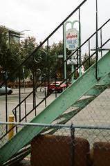 Super Value Inn (Travis Estell) Tags: oregononfilm oregon portland overlook interstateavenue supervalueinn portlandonfilm motel 35mmfilm kodakportra160 thedarkroomlab canonae1 portra160 unitedstates