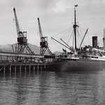 Inter-Island steamer at Lytellton, 1950 thumbnail