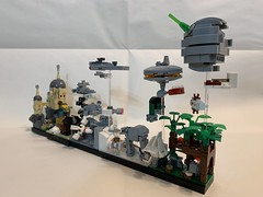 LEGO Star Wars Skyline Architecture MOC (MOMAtteo79) Tags: star wars skyline architecture lego moc microscale starwars vehicles spaceship tank