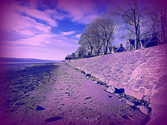 Clyde View (Rollingstone1) Tags: newyear riverclyde dumbarton scotland shore beach wall embankment houses buildings sky sea water landscape colour vivid nature trees clouds art artwork shoreline view scenic scene scenery river