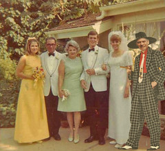 OK, so I crashed the party. (Fotofricassee) Tags: wedding party zoot suit bride groom parents stranger