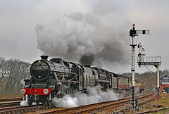 Swithland Double (gareth46233) Tags: 45305 70013 oliver cromwell gcr great central railway swithland sidings lms black 5 britannia steam