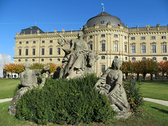 The Wurzburg Residence (Bishop's Palace) #14 (jimsawthat) Tags: historic architecture architecturaldetails palace wurzburg germany statues