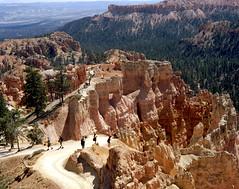 The Trail of Enchantment (Scott Holcomb) Tags: sunsetpoint brycecanyonnationalpark asahipentax6x7 supertakumar6x7124105mmlens kowal1aø67filter kodakektar100film 120film mediumformat 6x7 epsonperfectionv600 photoshopdigitalization