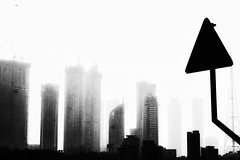 Silence of the City (Arvind Nandan) Tags: silhouetteaward buildings towers morning silhouettes silhouette mono skyline city