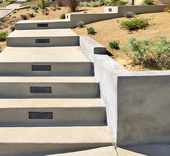 Concrete Steps with Lights in Los Angeles (floresartscape) Tags: outdoor steps stairs concrete lights safety