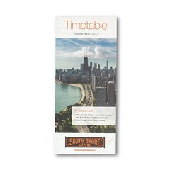 Timetable (Railway Ephemera) Tags: railroad railway train transit chicago indiana illinois nictd southshoreline timetable