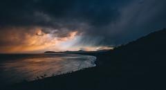 shanganagh bay (viewsfromthe519) Tags: shanganagh bay south dublin county ireland irish sea autumn fall evening clouds sky dark stormy sunset orange blue killiney