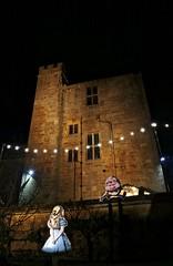 Sudeley IV (ye sons of art) Tags: sudeley gardens night illuminations christmas gloucestershire england uk history heritage light aliceinwonderland alice humptydumpty