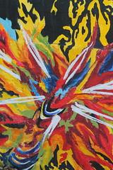 Galaxy (rachelkidwell93) Tags: art mural paint painting grafiti graffiti artist culpeper virginia small town travel galaxy galactic colorful bright pink yellow public brick wall red orange white blue green purple explosion explode space burst bursting