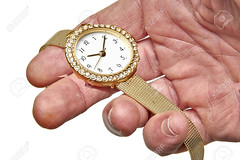 Women gold watch with the brilliants (nickgrecoHW) Tags: watch gold woman diamond wristwatch metal white precious yellow wealth minute gift bracelet time reflection color background accessory isolated jewelry luxury fashion personal crystal brilliant clock man male hand