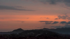 Mt Somerville Radar Dome (armct) Tags: goldcoast sunset ranges hills border silhouette radar dome geodesic queensland newsouthwales hillside village nightlights night lights clouds stratus airport ool mist valley currumbin naturessilhouettes
