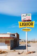 Crazy Bull Butcher Shop . . . (garshna) Tags: saltonsea abandoned signs broken liquor grocery toro loco