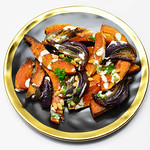 Roasted pumpkin with red onion thumbnail