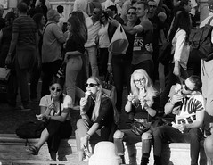 "Ice cream time in the sun! (Janne Räkköläinen) Tags: sit friends couples ""tastesgood"" rome italy icecream sitting tourist tourists people peopleonstreets peoplephotographing streetphotographing streetview streetlife urban city cityview citylife blackwhite bnw bw canon6d canonphotography canonphotographing canon ef70200 happy crowded photo photographing photooftheday amateur amateurphotography amateurphotographing october 2018 enjoying sunglasses takingiteasy spanishstairs inrome"
