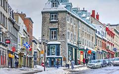 Quebec City (albyn.davis) Tags: winter snow city urban quebec canada buildings street windows people travel architecture
