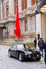 Ferrari (Croydon Clicker) Tags: ferrari car classic priceless sports wheels park street road london piccadilly burlington art modernart sculpture statues building architecture