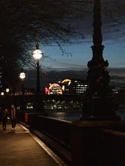 A walk at nightfall (marc.barrot) Tags: streetphotography charingcrossstation riverthames uk se1 southbank london southwark thamespath