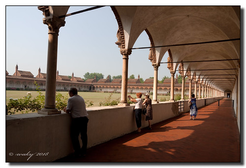 Gran claustro y celdas de los Monjes Certosinos.