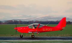 G-FLYJ Eurostar, Scone (wwshack) Tags: egpt eurostar evector psl perth perthairport perthshire scone sconeairport scotland scottishaeroclub snow gflyj