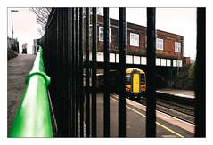 Making an Exit (Gingydadtog) Tags: class172 dmu dieselmultipleunit passengertrain rowleyregisstation westmidlands