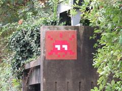 Space Invader PA_601 (tofz4u) Tags: a86 autoroute valdemarne paris streetart artderue invader spaceinvader spaceinvaders mosaïque mosaic tile pa601 rouge red brun brown