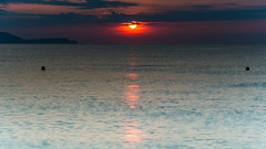 Sunrise Seascape on the Cam Ranh Peninsula (Merrillie) Tags: northerncamranhpeninsula holidays theanam sunrise nhatrang islands water mountains morning vietnam southchinasea sea earlymorning sun camranh beach scenery landscape travel waterscape scenic bay sky seascape ocean outdoors tropical theanamresort