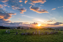 """Beltany Neolithic Standing Stone Circle of Donegal"" (Gareth Wray - 12 Million Views, Thank You) Tags: ancient pagan druid druids stone circle standing stones worship monument monuments raphoe county donegal ireland landscape tourist tourism site visit scenic landmark sun set sunset red blue sky summer country side countryside lens gareth wray photography irish eire granite field national trust colourful clear day historic famous attraction photographer pro vacation europe neolithic bronze age outdoor grass dji phantom p4p drone aerial 2018 celtic architecture plant quadcopter four cloudscape"