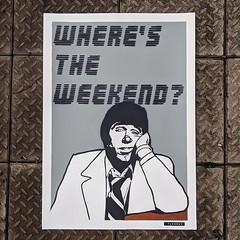 Where's the weekend? (id-iom) Tags: work bored weekend tuesday grey art ebay painting stencil dymo modern contemporary urban pop popart urbanart contemporaryart modernart wage slave