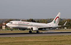 AT 738W CN-ROK (Spenair777) Tags: smoky touchdown 737 ram maroc royal bru brussels